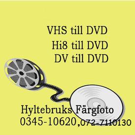 Överföring av VHS,Hi8, DV